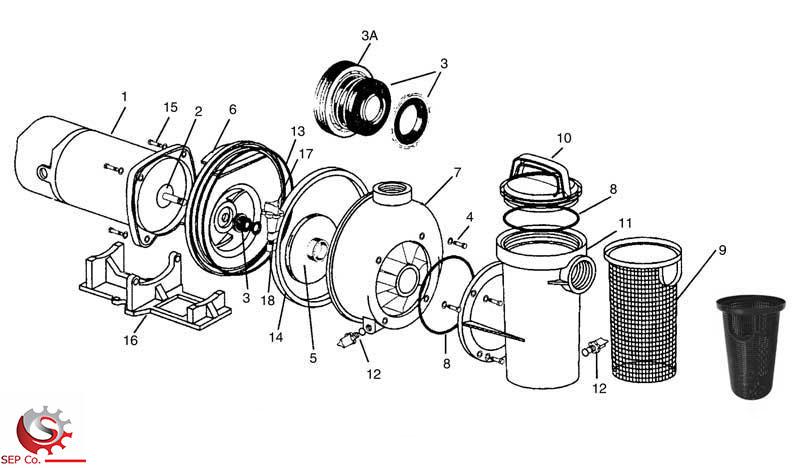 اجزاء موتور پمپ
