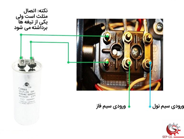 راه اندازی موتور سه فاز با برق تک فاز، بدون اینورتر